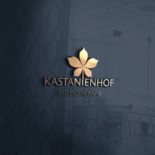 Physiotherapy logo with the title 'Kastanienhof Physiotherapie Logo'