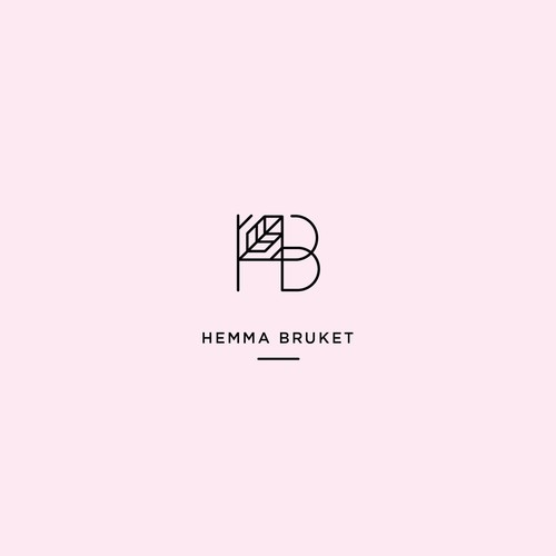 Art Deco brand with the title 'Home Fashion Logo Design'