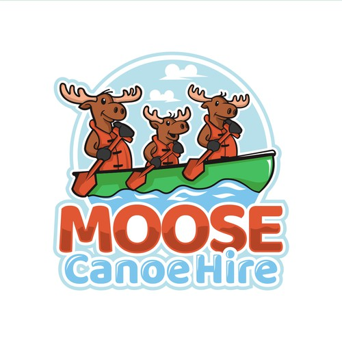 UK design with the title 'Winner of Moose Canoe Hire Contest'