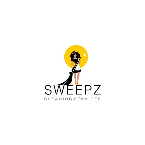 Cleaning and maintenance logo with the title 'Logo design for Sweepz Cleaning Services company'