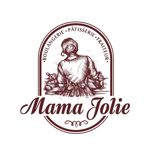 Traditional logo with the title 'Logo for traditional Italian bakery'