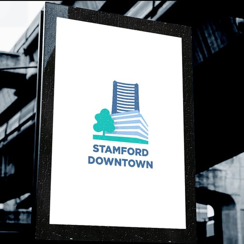 Downtown design with the title 'Logo for Business Improvement District'
