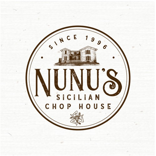 Steak logo with the title 'NuNus Sicilian Chop House'