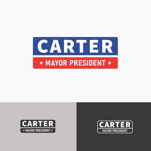 Campaign logo with the title 'Carter for Mayor'