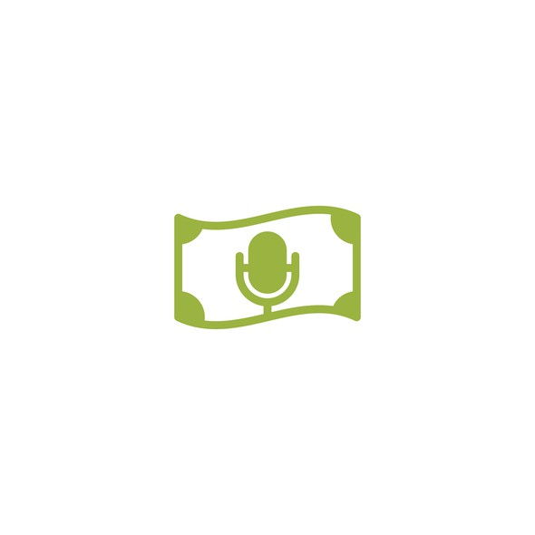 Microphone design with the title 'Cash Podcast'
