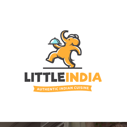 Elephant logo with the title 'Little India'
