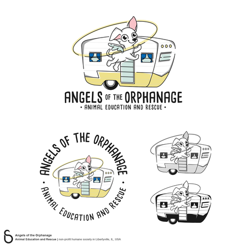 Trailer design with the title 'Logo Design for Angels of the Orphanage'