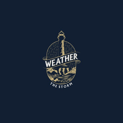 Weather logo with the title 'Bold logo concept for Weather the Storm'