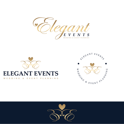 Wedding planning design with the title 'Elegant Events Logo concept'