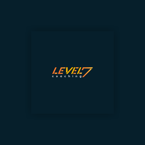 Number 7 logo with the title 'the concept of a personal fitness training logo called LEVEL 7'