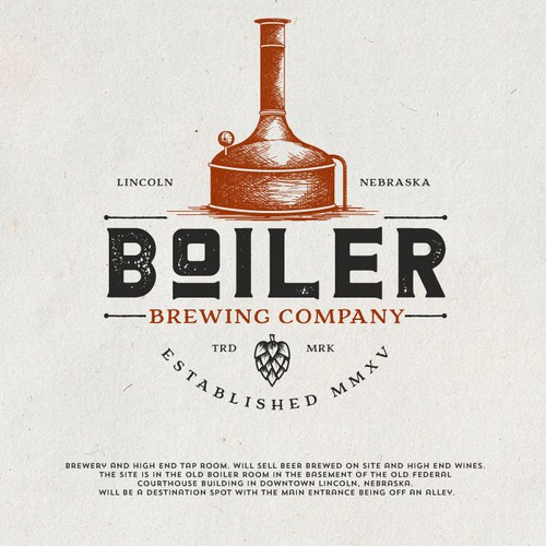 Emblem design with the title 'Boiler Brewing'