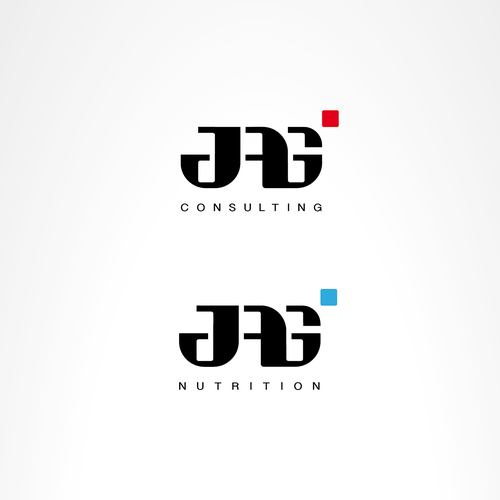 Balanced logo with the title 'Modern logo for consulting firm'
