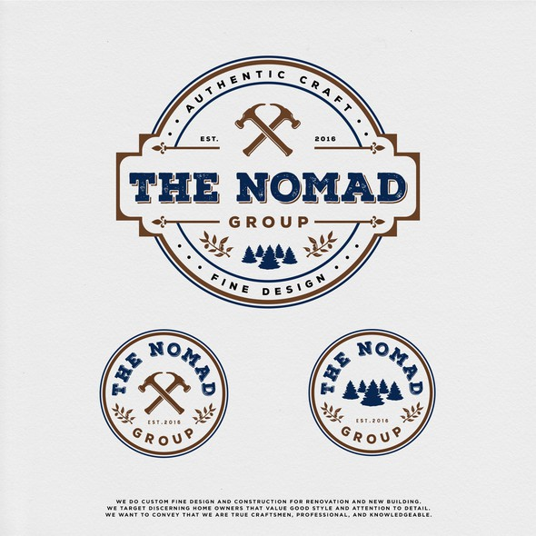 Home builder logo with the title 'THE NOMAD GROUP'