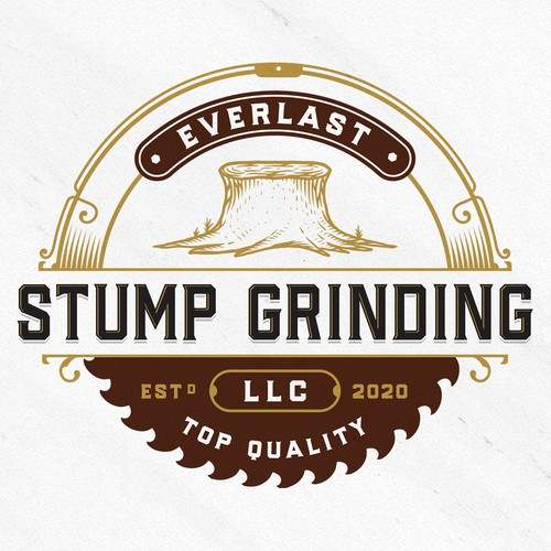 Classic logo with the title 'Everlast Stump Grinding LLC'