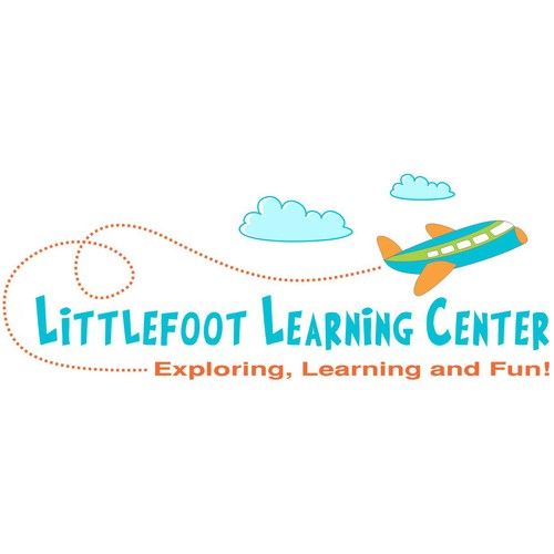 Airborne logo with the title 'Littlefoot Learning Center'