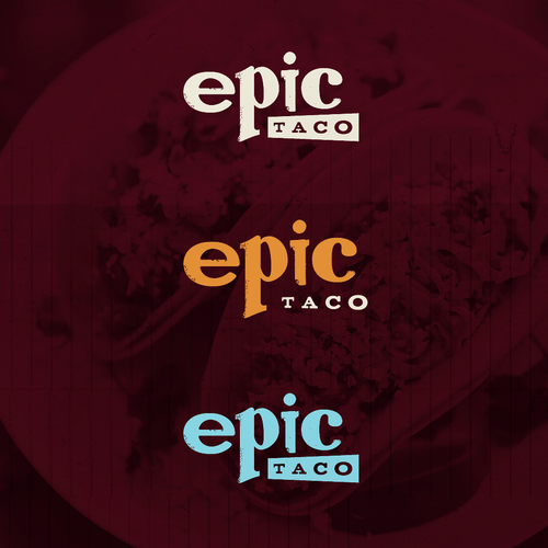 Restaurant logo with the title 'Epic Taco Logo'