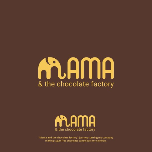 Mammoth design with the title 'Bold Logo Chocolate Factory'