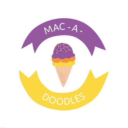 Small business logo with the title 'MAC - A - DOODLES LOGO'