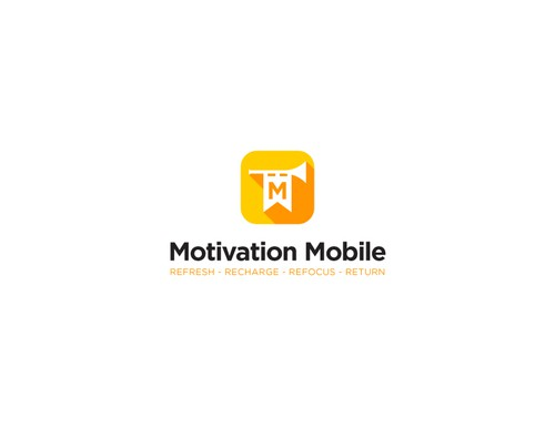 Medieval logo with the title 'Logo Design for Motivation Mobile'