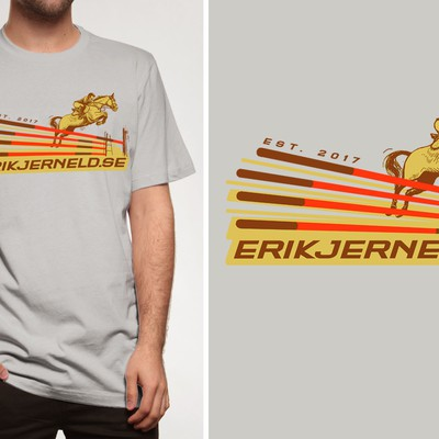 Original illustrative T-shirt design for an equestrian equipment brand