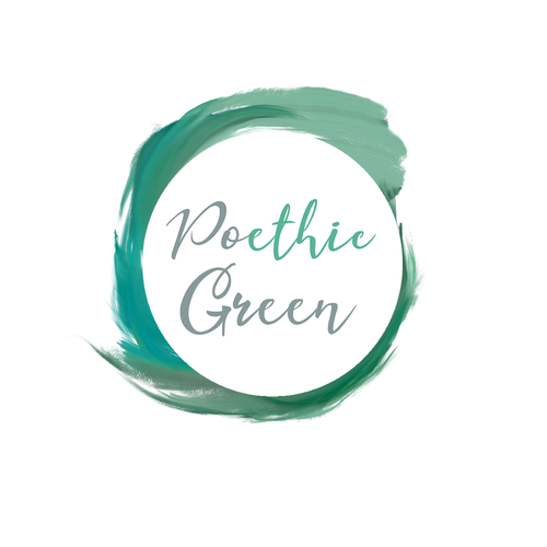 Paintbrush logo with the title 'Logo concept for Poethic Green'