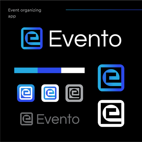 Event planning logo with the title 'Evento'