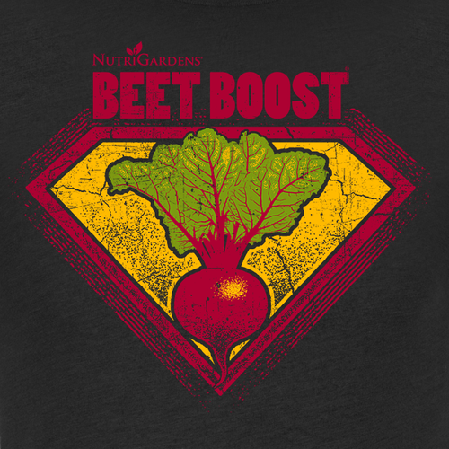 Vegetarian t-shirt with the title 'Beet Boost Nutrients Seller T-shirt'