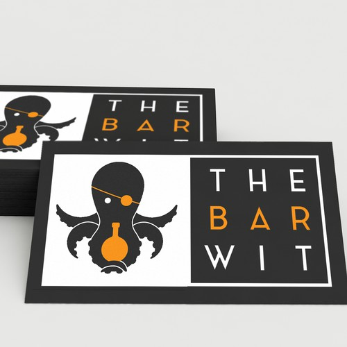 "Pirate brand with the title 'Logo for the Bartending Company ""The Bar Wit""'"