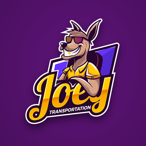 Character logo with the title 'Kangaroo Logo'