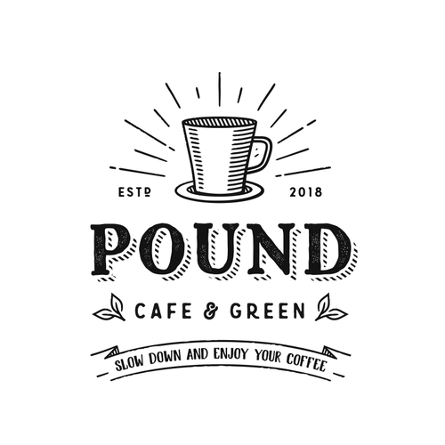 Coffee brand with the title 'Pound Cafe & Green'