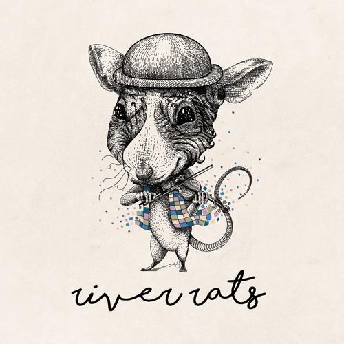Playful design with the title 'River Rats illustration design'