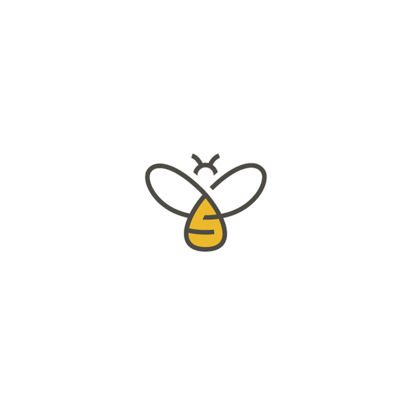 Bumblebee design with the title 'Honey bee logo'