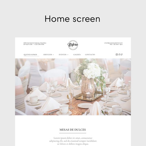 Wedding website with the title 'Wedding Event Website'