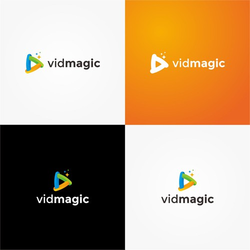 Player logo with the title 'Triangle Play Logo for Vidmagic'