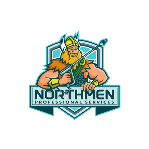 Cleaning company logo with the title 'Northmen Professional Services'