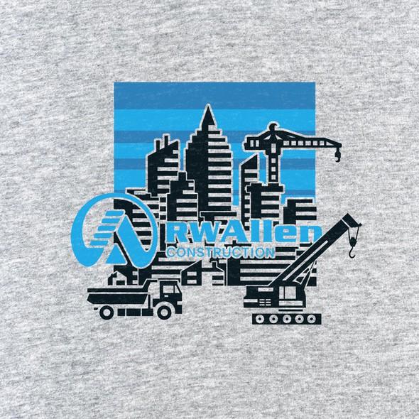 Truck t-shirt with the title 'Rwallen Construction'