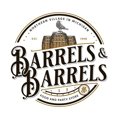 Party logo with the title 'Barrels & Barrels'