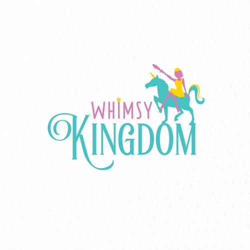 Unicorn logo with the title 'Whimsical Logo for Support Coach'