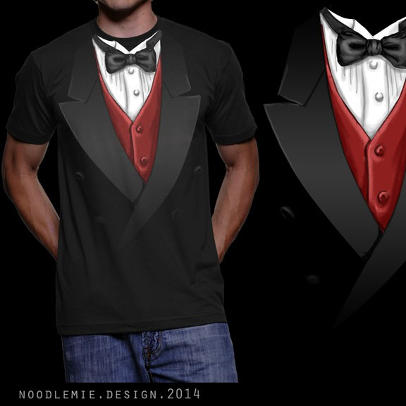 "Tuxedo design with the title 'T-Shirt ""Tuxedo"" - multiple Winner possible'"