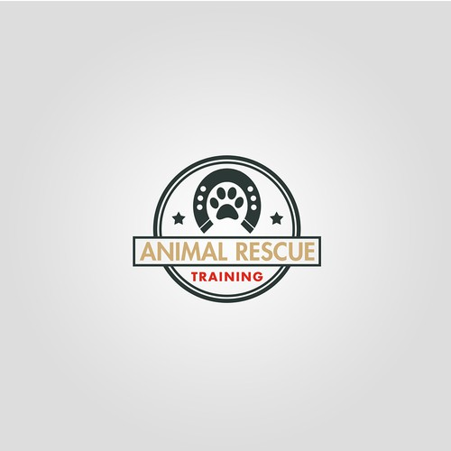 Rescue logo with the title 'Animal Rescue Training '