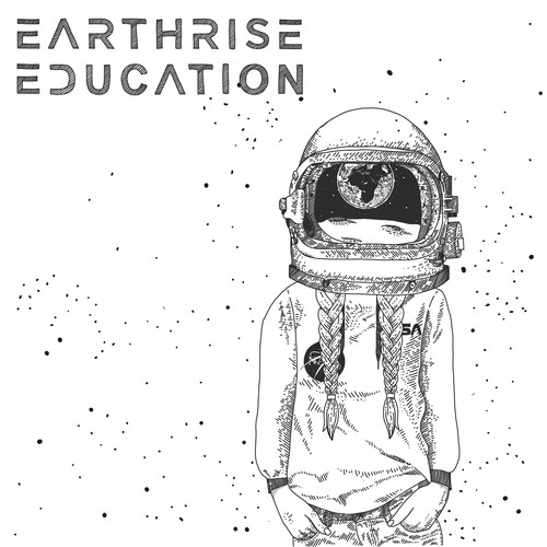 Universe illustration with the title 'Earthrise Education'