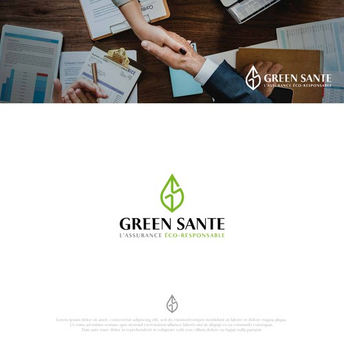 Insurance broker logo with the title 'GREEN SANTE'