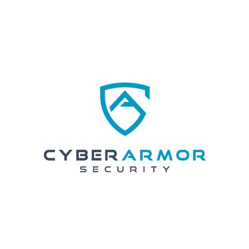 Armor logo with the title 'Cyber Armor Security Logo'