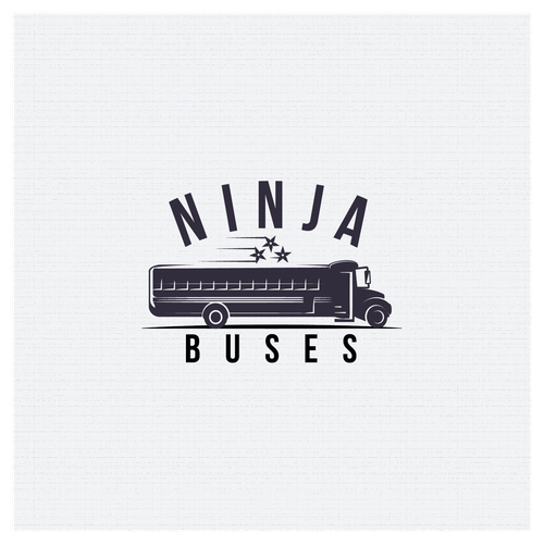 Bus design with the title 'Logo for Ninja Buses'
