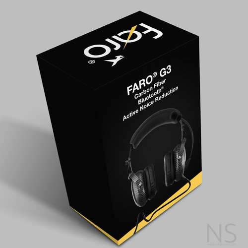 Bluetooth design with the title 'Headsets packaging design'