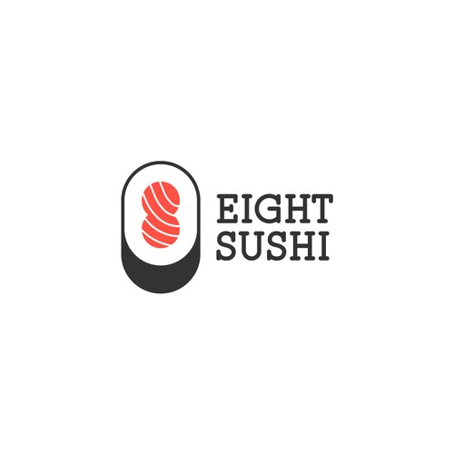 Caviar logo with the title 'Creative logo for Eight Sushi'
