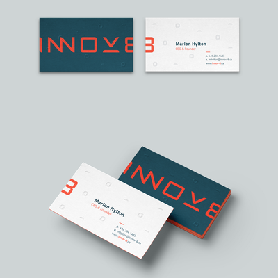 Business card design for Innov-8