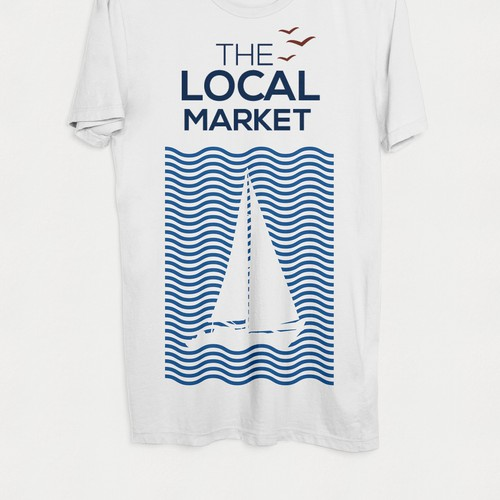 Wave t-shirt with the title 'Nautical themed T-shirt'