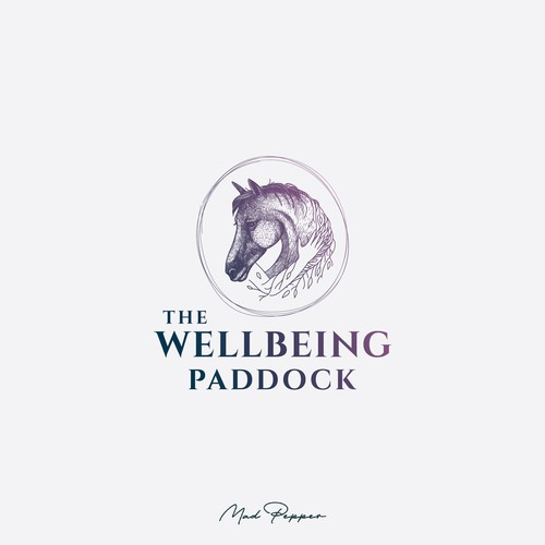 Counseling logo with the title 'The Wellbeing Paddock logo representing human connection to nature '