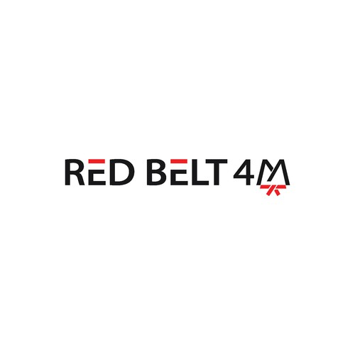 Belt logo with the title 'logo conceps for RED BELT 4M'